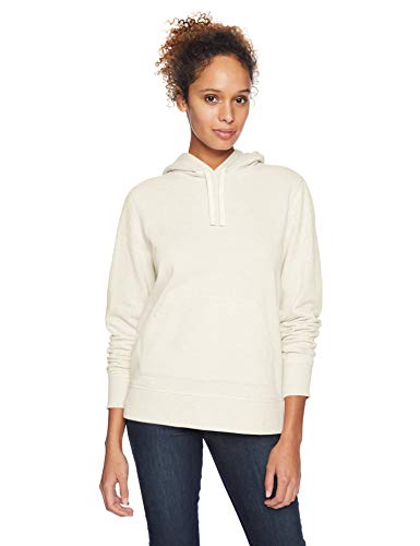 Amazon Essentials Women's French Terry Fleece Pullover Hoodie Sweater, -oatmeal heather, Large