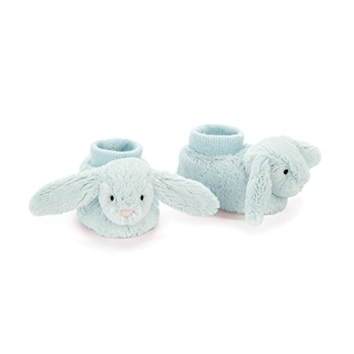 Jellycat Bashful Beau Bunny Baby Booties, 0-3 Months