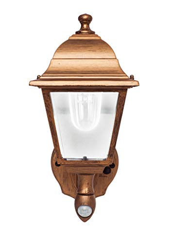 Maxsa 48219 Battery-Powered Motion-Activated Wall Sconce in Golden Copper