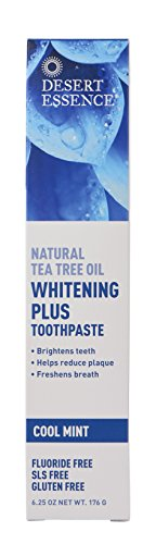 Desert Essence Whitening Plus Cool Mint Toothpaste - 6.25 oz (Care Dental Desert Essence Toothpaste)
