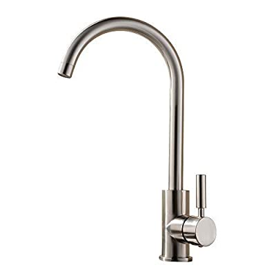 Best Commercial Brushed Nickel Stainless Steel Single Handle Kitchen Bar Sink Faucet, Single Lever Kitchen Faucet