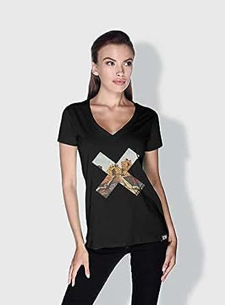 Creo Beirut History X City Love T-Shirts For Women - L, Black
