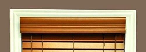 Delta Blinds Supply Faux Wood Crown Valance ONLY, Golden Oak