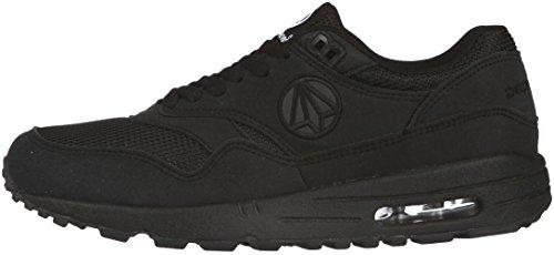 Paperplanes 1317 Unisex-Luftpolster-Sneakers Essential Running, Schwarz - schwarz - Größe: 42