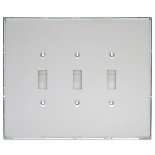 GlassAlike Triple Switch Acrylic Mirror Switch Plate
