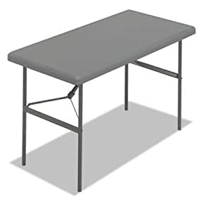 Folding Table, 48 quot;x24 quot;x29 quot;, Charcoal