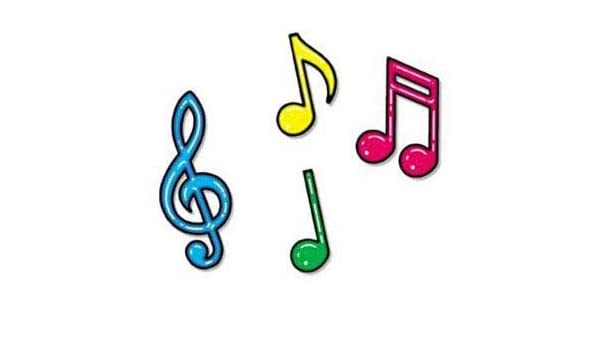 Amazon.com: BuyGifts Colorful Music Note Decorations: Home & Kitchen