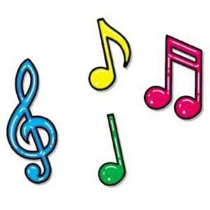 Amazing Amazon Com Colorful Music Note Decorations Home Kitchen Best Image Libraries Weasiibadanjobscom