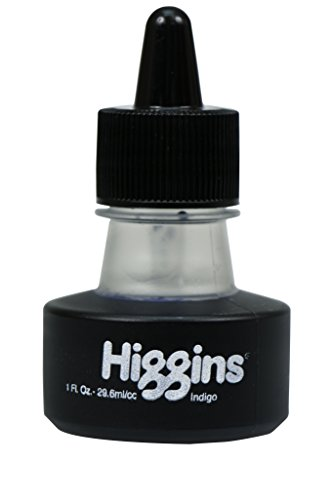 Higgins Dye-Based Drawing Ink, Indigo, 1 Ounce Bottle (44117)