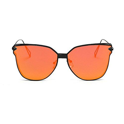 Aoligei Lunettes de soleil lady personnalité lunettes de soleil Europe et Amérique tendance de la mode en métal RzpIAd