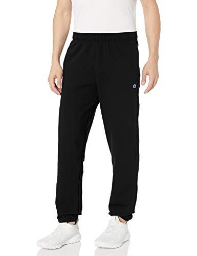 Champion Men's Powerblend Relaxed Bottom Fleece Pant, Black, 2XL