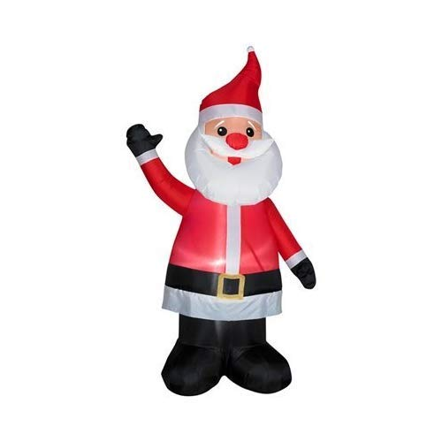 Gemmy 86177 w Christmas Inflatable 7' Santa with Red Nose | Airblown Inflatab, 7-Ft (Christmas Outdoor Sale)