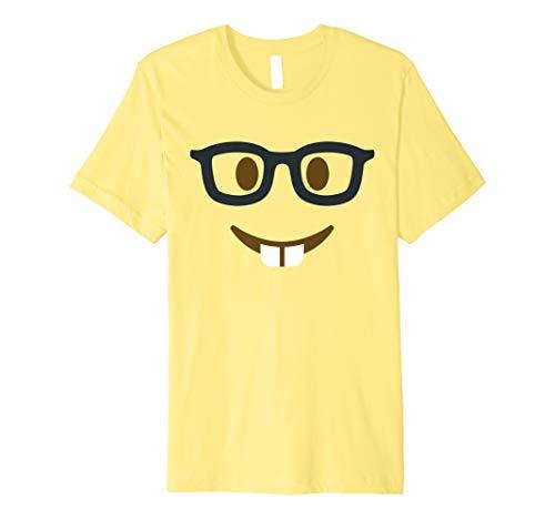 Geeky Emoji Nerd Face Glasses Halloween Group Costume Premium T-Shirt