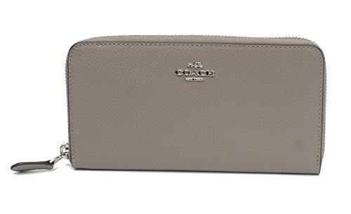 Coach BM 02 Pebbled Leather Accordion Zip Around Wallet