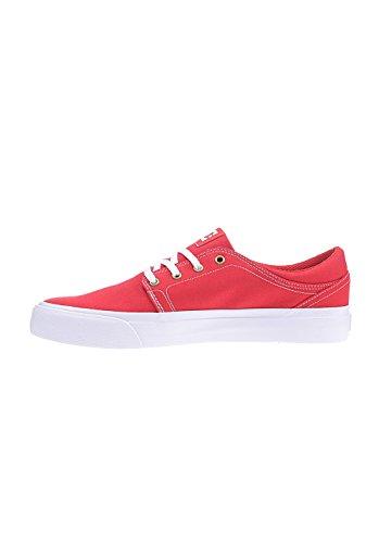 Basse Trase Rouge TX Red Frn M White Uomo DC Sneaker Shoe U7qFF