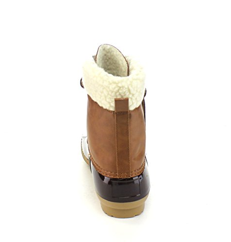 Two Axny Brown Tone Rain Duck Ankle Small One Lace Size Dylan Women's Up Boots 3 6rxwItaqx
