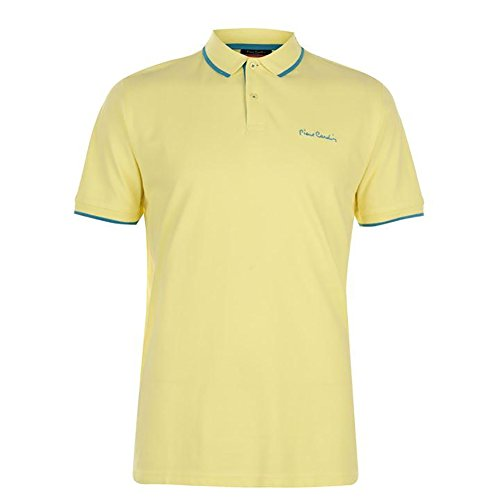 Pierre+Cardin+Mens+New+Season+Classic+Fit+Tipped+Polo+%28Medium%2C+Lemon%2FTeal+Tipping%29