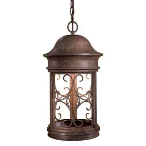 Minka Great Outdoors 8284-A61 Sage Ridge - One Light Outdoor Chain Hung Lantern, Vintage Rust Finish