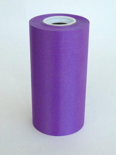 """6"""" Wide Purple Ceremonial Ribbon for Grand Openings/Re-Openings and Ribbon Cutting Ceremonies - 25 Yard Roll"""