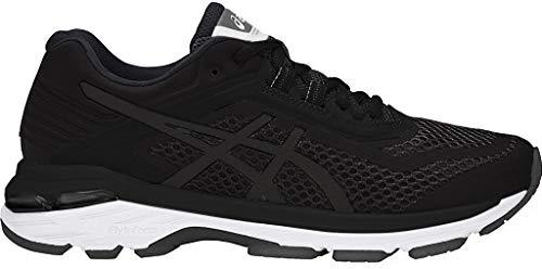ASICS T855N Women's GT-2000 6 Running Shoe, Black/White/Carbon - 8.5 B(M) US (Asics Gel Energy)