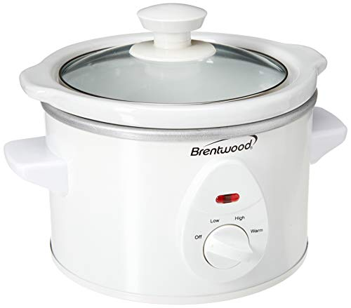 Brentwood SC-115W Slow Cooker, 1.5 Quart, White