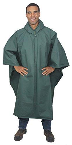Galeton 12714-GR Repel Rainwear XL & Tall 0.22mm EVA Ultra-Lightweight Poncho, Green