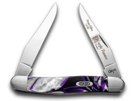 CASE XX Purple Passion Genuine Corelon 1/500 Muskrat Pocket Knife Knives