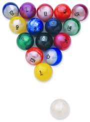 Epco Premium Quality, American Made, Pearlescent Billiard or Pool Set, with 4.2oz, 2.25