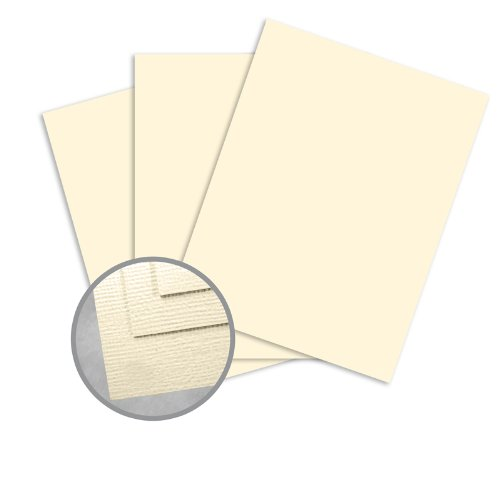 Treasures Ivory Card Stock - 8 1/2 x 11 in 80 lb Cover Textured 250 per Package (Cardstock Treasures 80 Cover Lb)