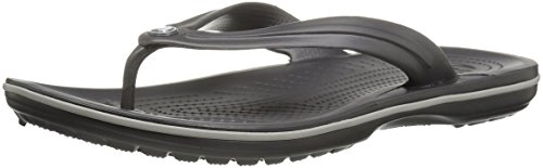 crocs Unisex Crocband Flip Flop,  Graphite/Light Grey, 5 US Men / 7 US Women by Crocs