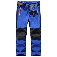 Asfixiado Kids Boy's Cargo Pants-Youth Children's Athletic Outdoor Convertible Trousers,Hiking Camping Fishing Trail Zip Off Trousers
