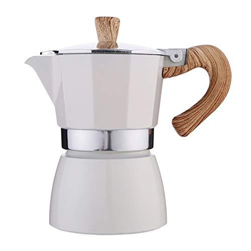 Fenteer Estufa de Cocina, Cafetera Espresso para Café Expreso con Sabor Fuerte, Cafetera Portátil de Aluminio, Olla de…