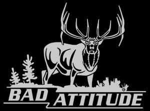 Bad Attitude Elk Hunting Automotive Window Decal Elk Wall Decal High Quality Adhesive - Elk Bugling Decal