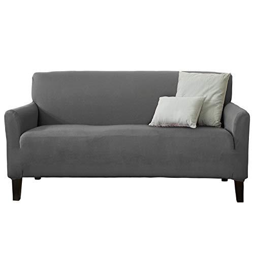 (Home Fashion Designs 1-Piece Spandex Slipcover Dawson Collection. (Sofa, Grey))