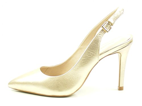 Bronx Sling Pumps Cote 75095-A Metallic High Heels Stiletto Gold