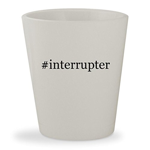 #interrupter - White Hashtag Ceramic 1.5oz Shot Glass
