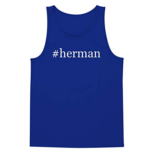 The Town Butler #Herman - A Soft & Comfortable Hashtag Men's Tank Top, Blue, XX-Large