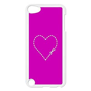 QSWHXN Customized Print Love Heart Pattern Hard Case for iPod Touch 5