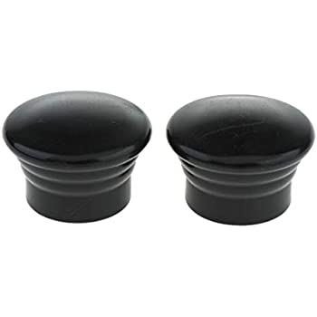 Black Flameer 2 Count Home Office Window Curtain Panel Rod End Cap Finials Only