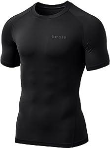 Tesla Men's Short Sleeve T-Shirt Cool Dry Compression Baselayer MUB73 / TUB103 / R13 / R14