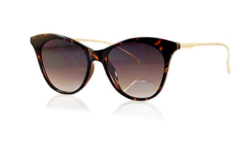 FBL Jackie O Classic Gradient/ Smoke Flat Lens Cat-Eye Sunglasses A102 (Tortoise/ Brown - Kennedy Glasses Jackie