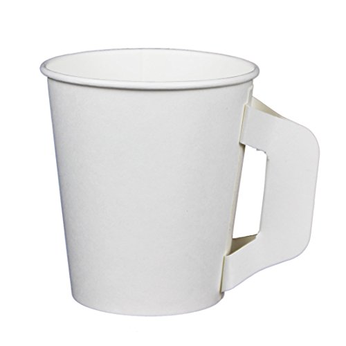 Hot Beverage Cup for Coffee, Tea, Water, Shots, Wheat Grass, Samples - With Handle (50ct 6oz) -