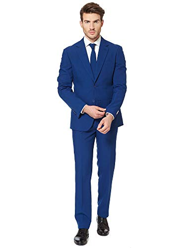 OppoSuits Men's Navy Royale-Party Costume Suit, 40 -