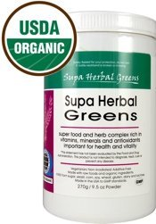 Supa Herbal Greens Organic Whole Food Powder; 9.5oz by Nature's Brands