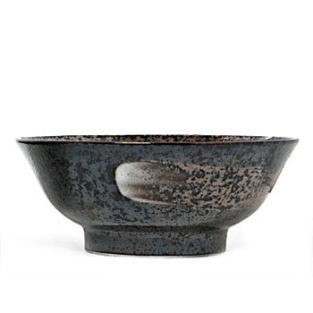(New 8.25 Inches Bowl Metallic Black With Swirls)