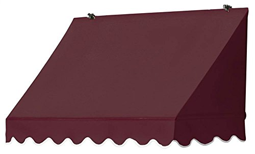 (Awnings in a Box 3020706 Traditional Window Awning, 4' Burgundy)
