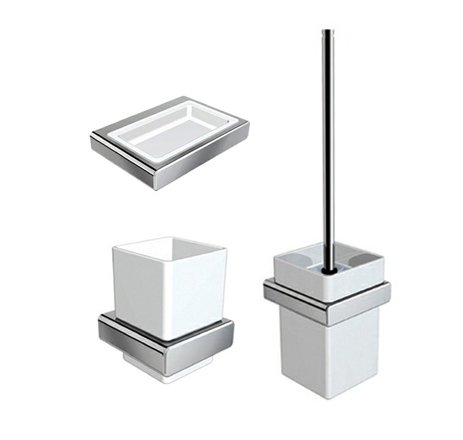 Moli Square Bathroom Accessories Sets Soap Holder, Tumble Holder, Toilet  Brush Holder Chrome Finish   Buy Online In UAE. | Products In The UAE   See  Prices, ...