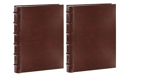 Pioneer Photo Albums CLB-346/BN Sewn Bonded Leather Bi-Directional 300 Photos Pocket Album (Brown) 2 PACK Bonded Leather Photo Album