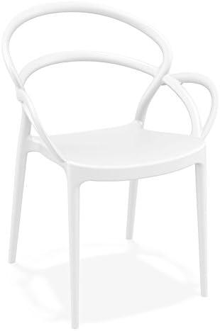 Chaise de terrasse 'Juliette' Design Blanche: