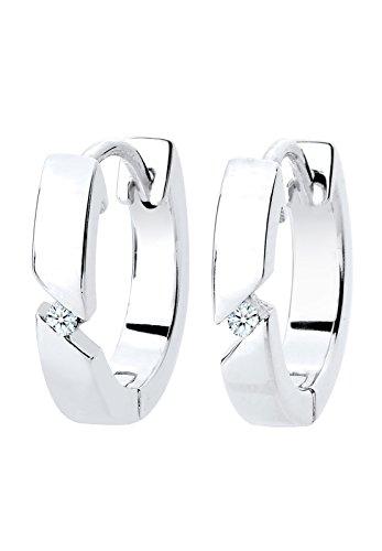 Diamore-Damen-Creolen-925-Sterling-Silber-Diamant-wei
